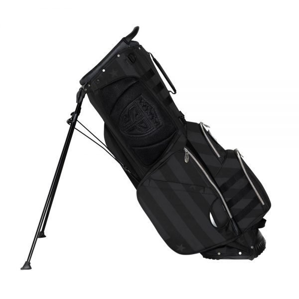 Durable Patriotic Golf Bag Reclined Hip Side cutout