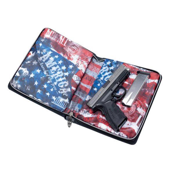 Subtle Patriot Pistol Planner Open with Pistol