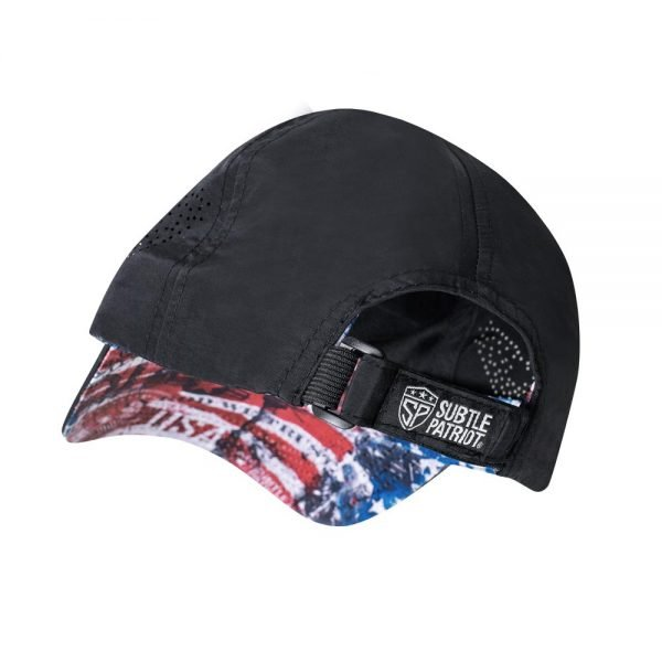 Subtle Patriot Running Hat Back