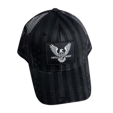 Subtle Patriot Trucker Hat Front