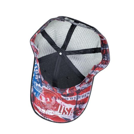 Subtle Patriot Trucker Hat Inside