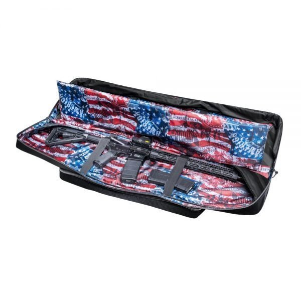 Subtle Patriot Rifle Bag Open with AR